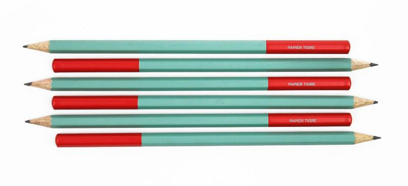 Papier Tigre Bleistift Grün Brick Red