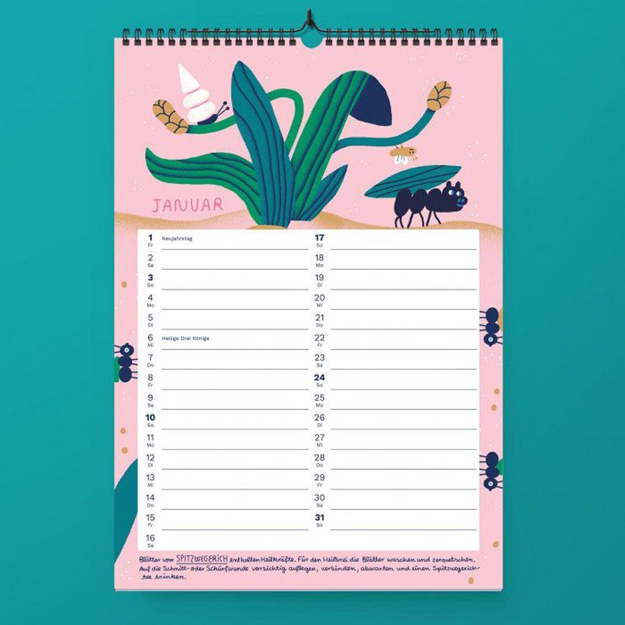 """Kalender """"Heilpflanzen & Kräuter 2021"""""""