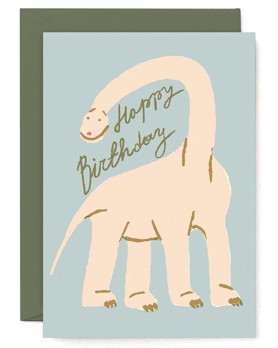 Happy Birthday Dinosaur Klappkarte