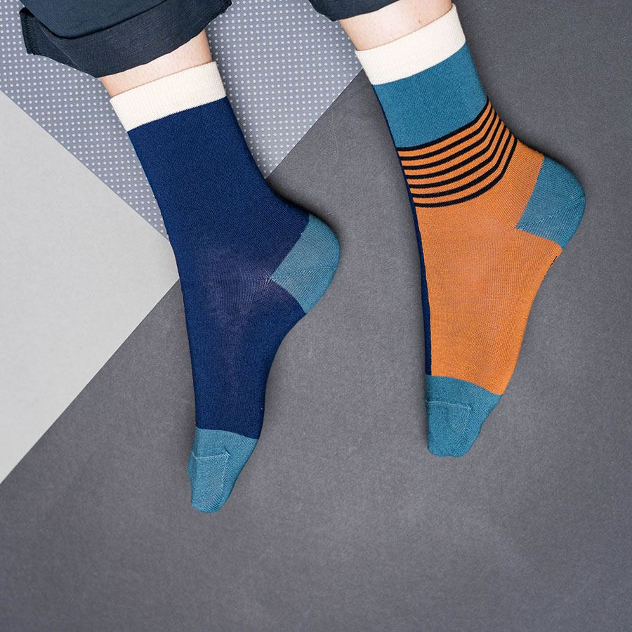 Nice Socks Halb/Halb Brick Red
