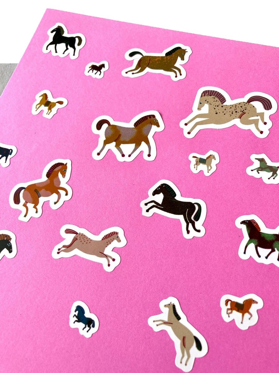 Horses Sticker Set