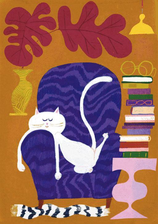Catnap Postkarte