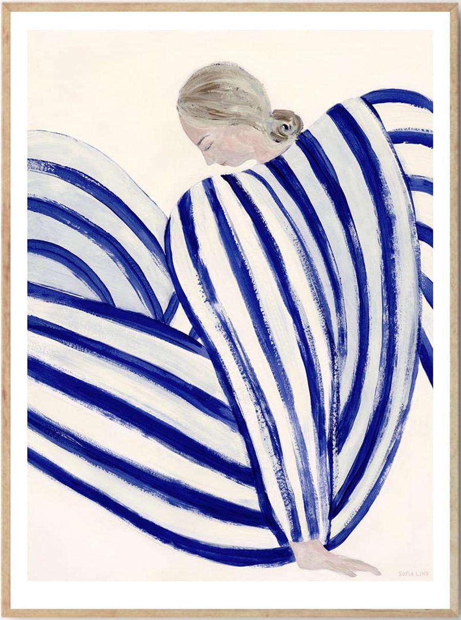 Blue Stripe At Concorde Poster (50x70cm)