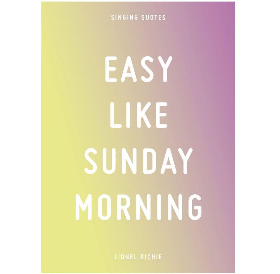 Easy like sunday morning Postkarte