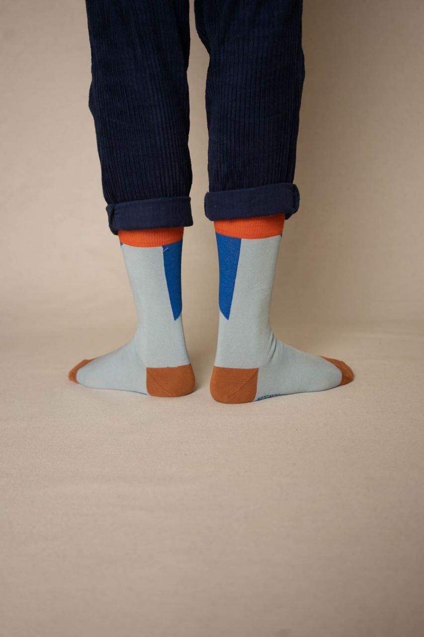 Nice Socks Diagonal Rust