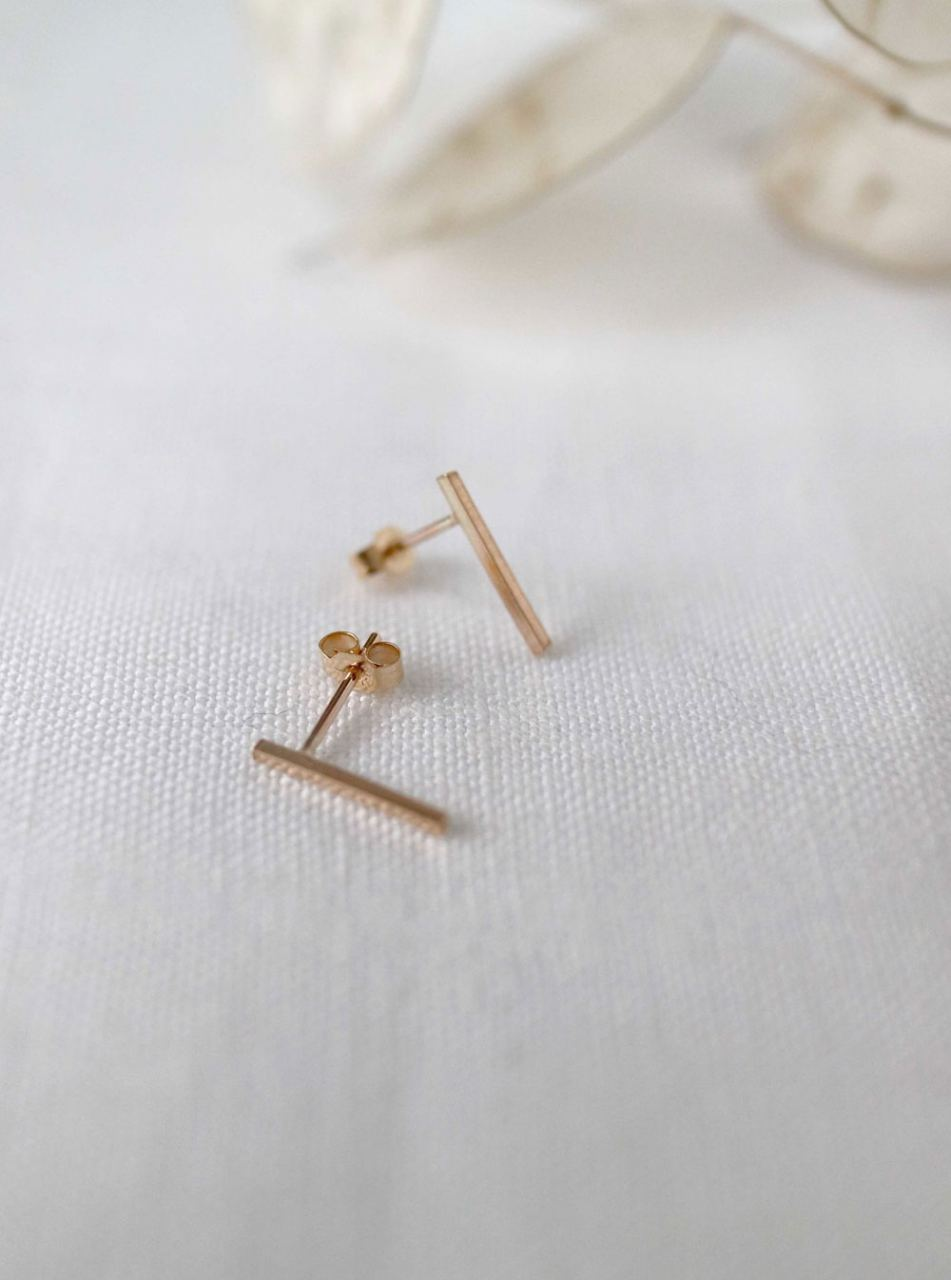 Gold Minimal Bar Studs