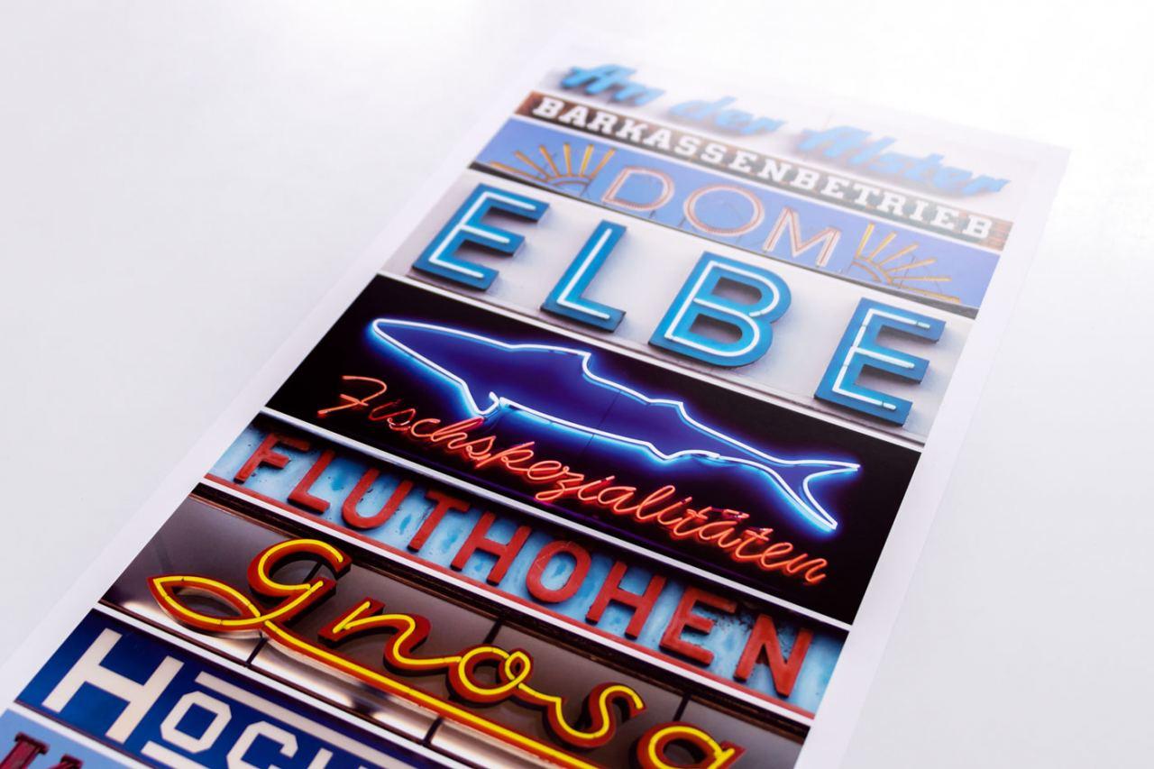 Hamburg Alphabet Plakat