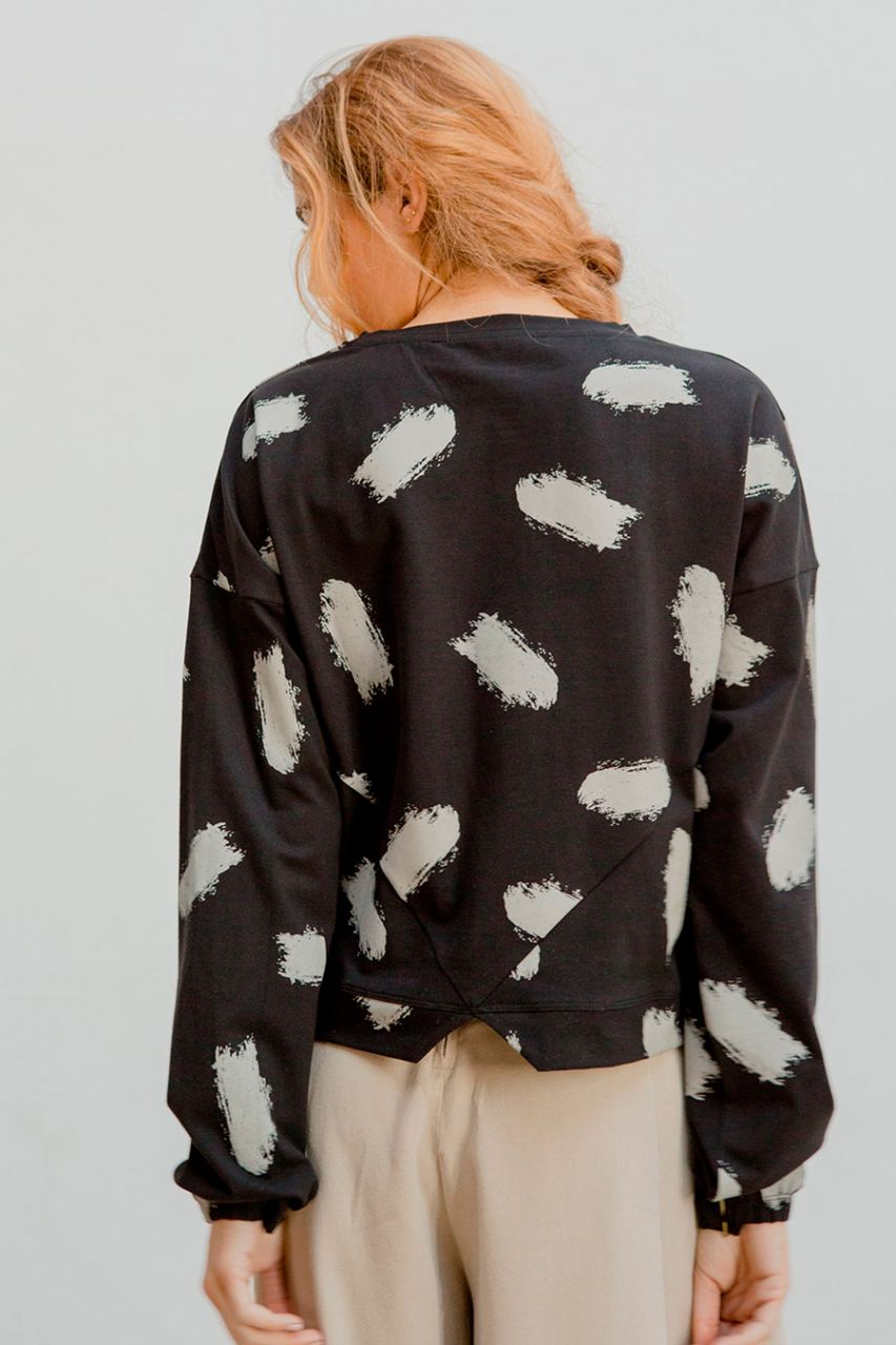 Mimi Shirt Brush Print