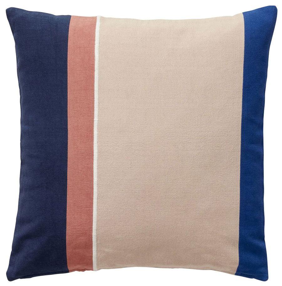 Kissen Baumwolle Beige Blau Rosa Weiß