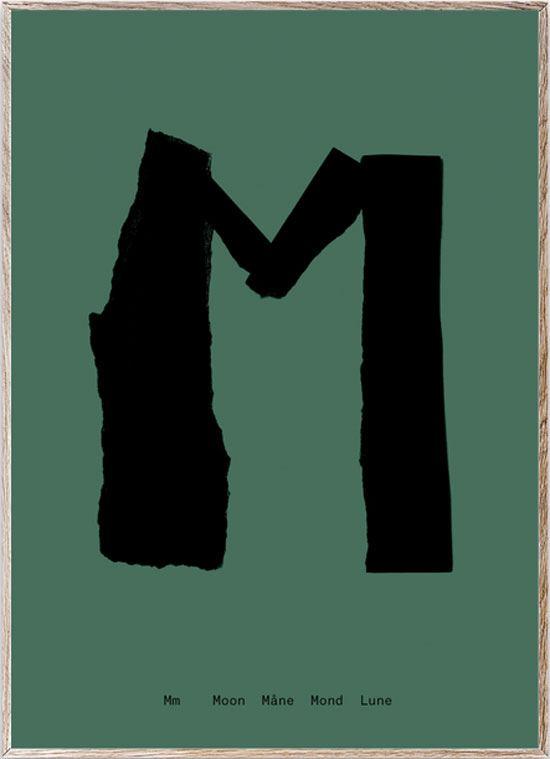 M - Alphabet Spaghetti Letter Print (Din A5)