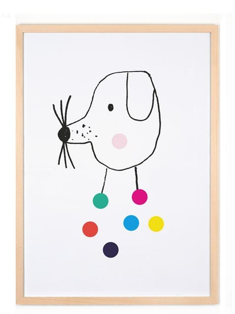 Confetti Dog Poster (50 x 70 cm)