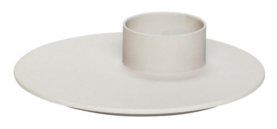 Teelichterhalter Metall Grau