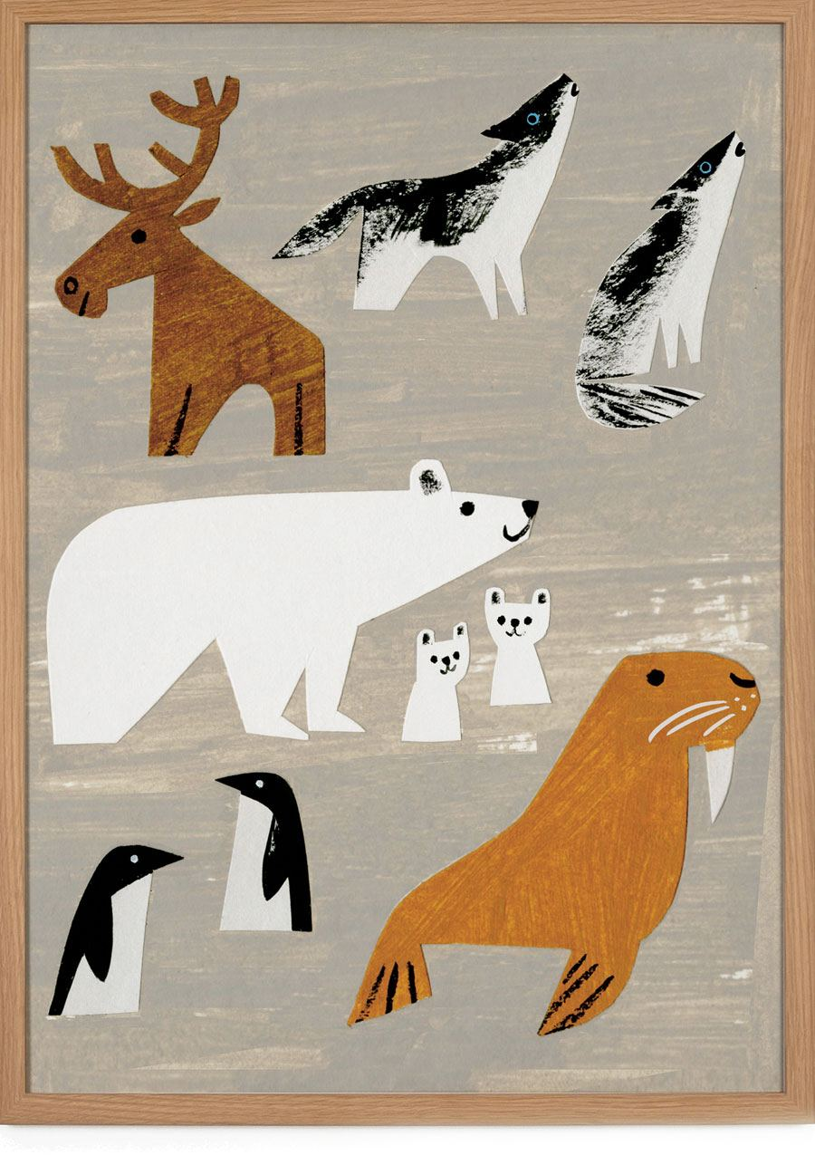 Winter Animals Poster