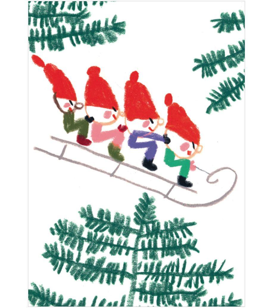Sledge Postkarte