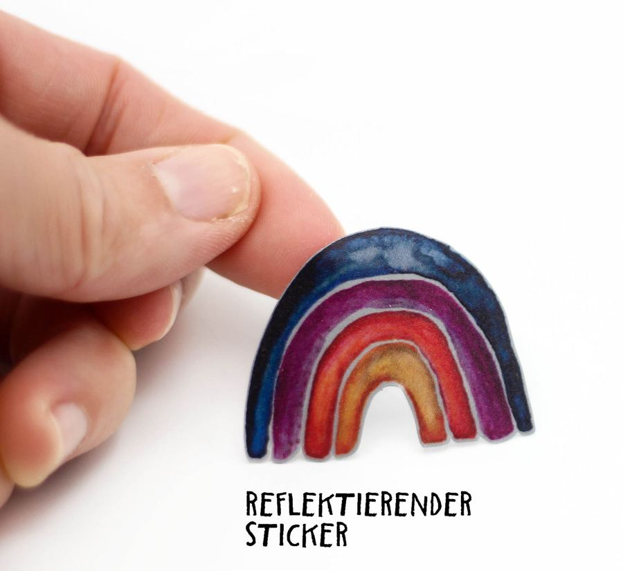 Sticker Regenbogen, reflektierend - 3er Set