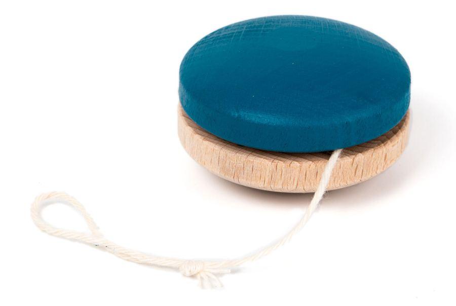 Holz-Jojo Blau