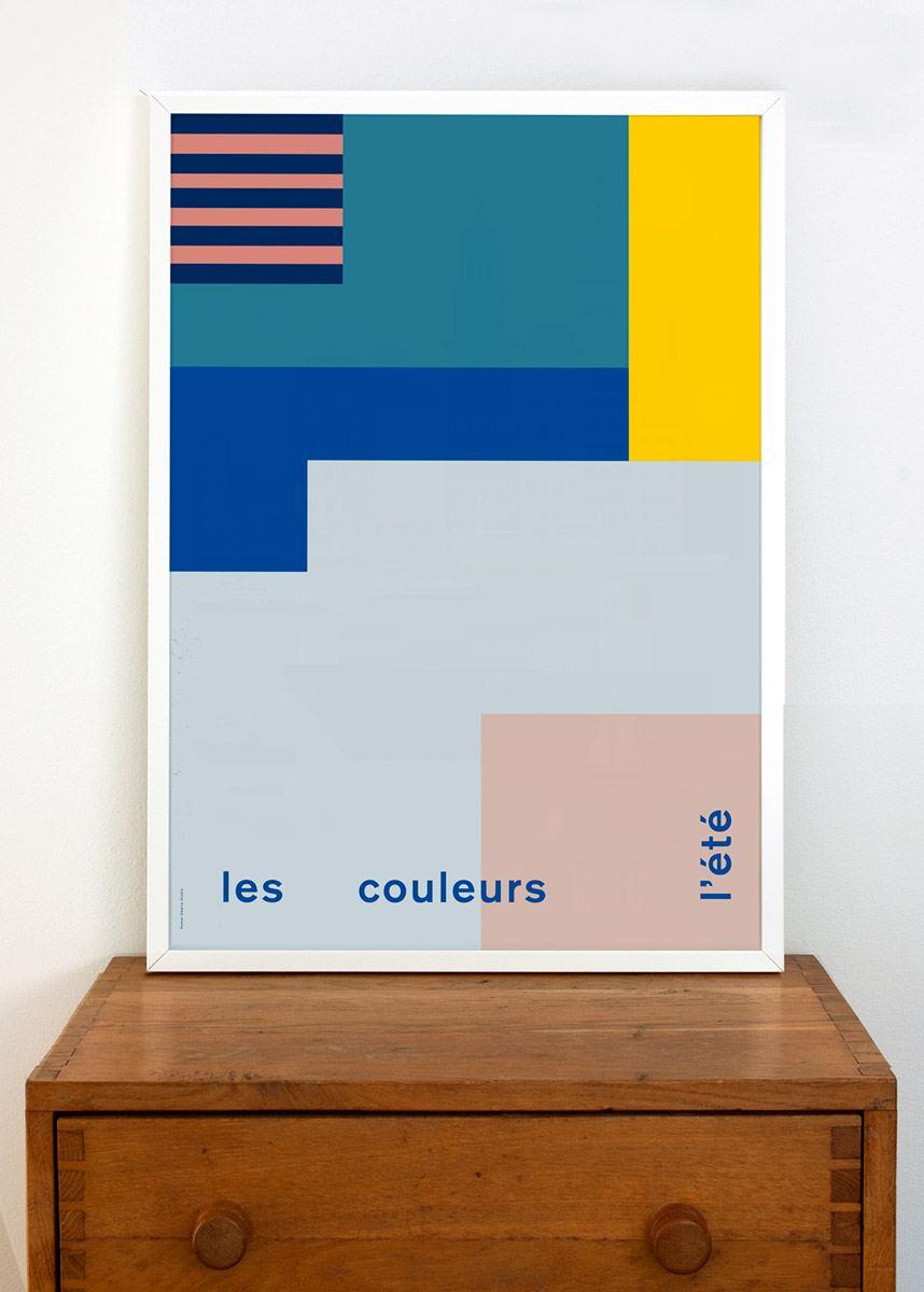 Les Couleurs l' Été Poster