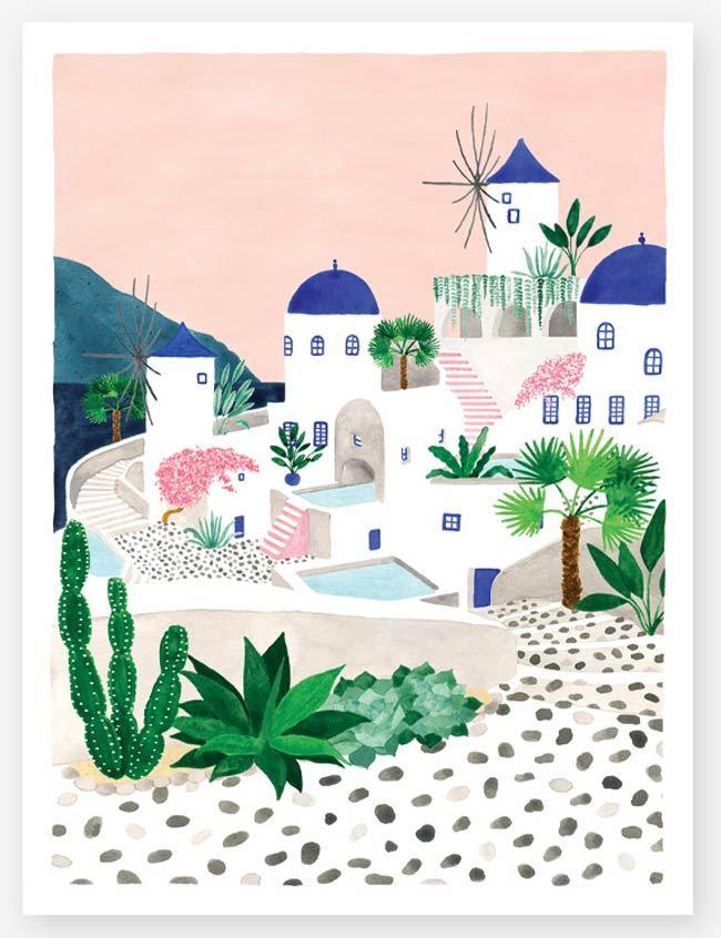 Santorini Print (29,7 x 39,7cm)
