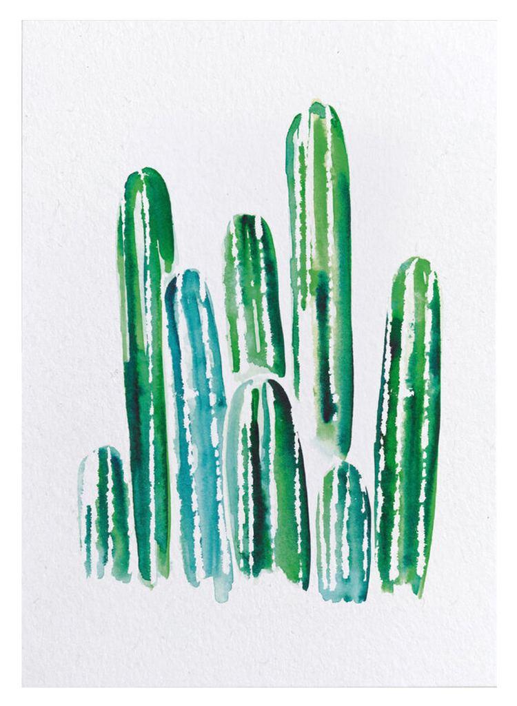 Kaktus Postkarte