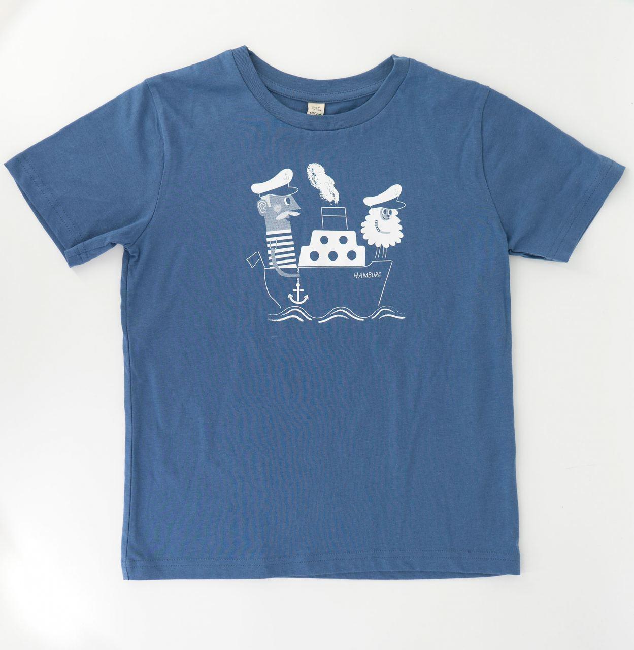 Jan & Jörn Kindershirt Jeansblau