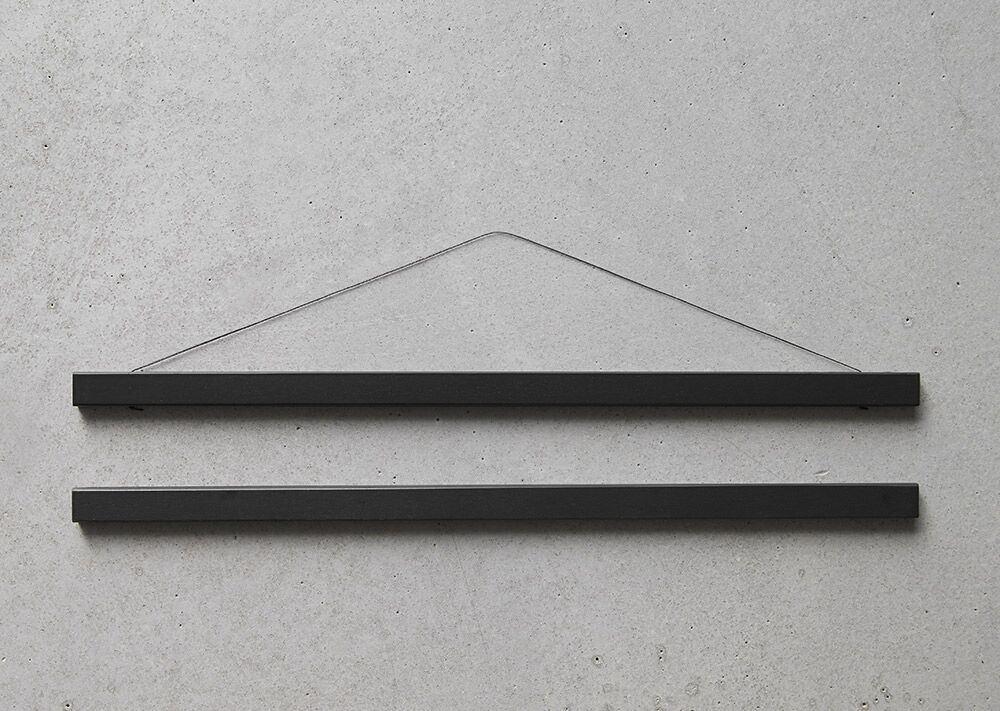 ChiCura Posterleiste Schwarz 22cm