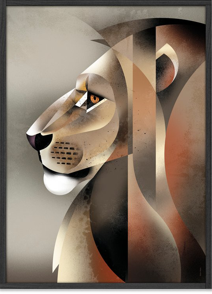 lion poster 50x70cm dieter braun human empire shop. Black Bedroom Furniture Sets. Home Design Ideas