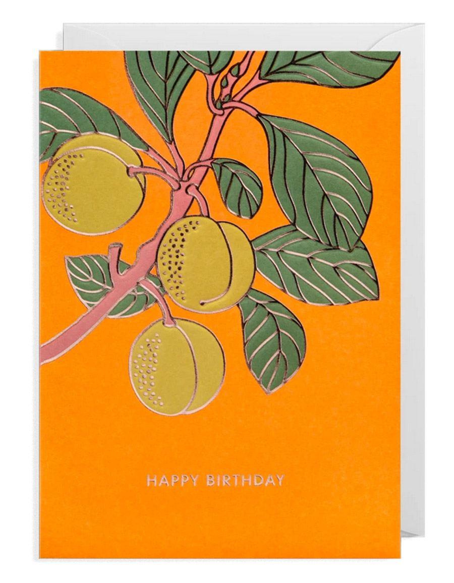Hanna Werning Birthday Peaches Klappkarte