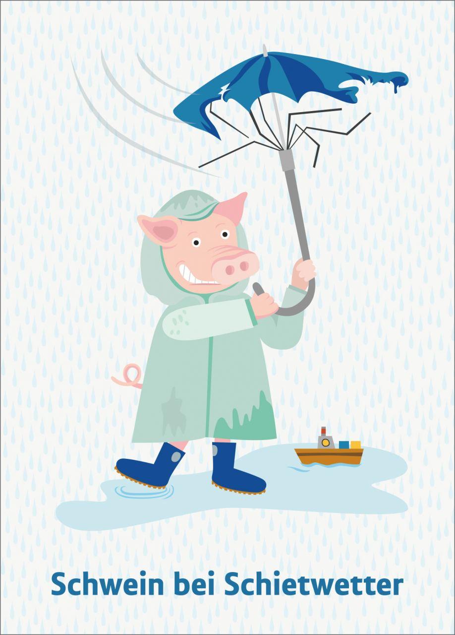 Schwein bei Schietwetter Karte