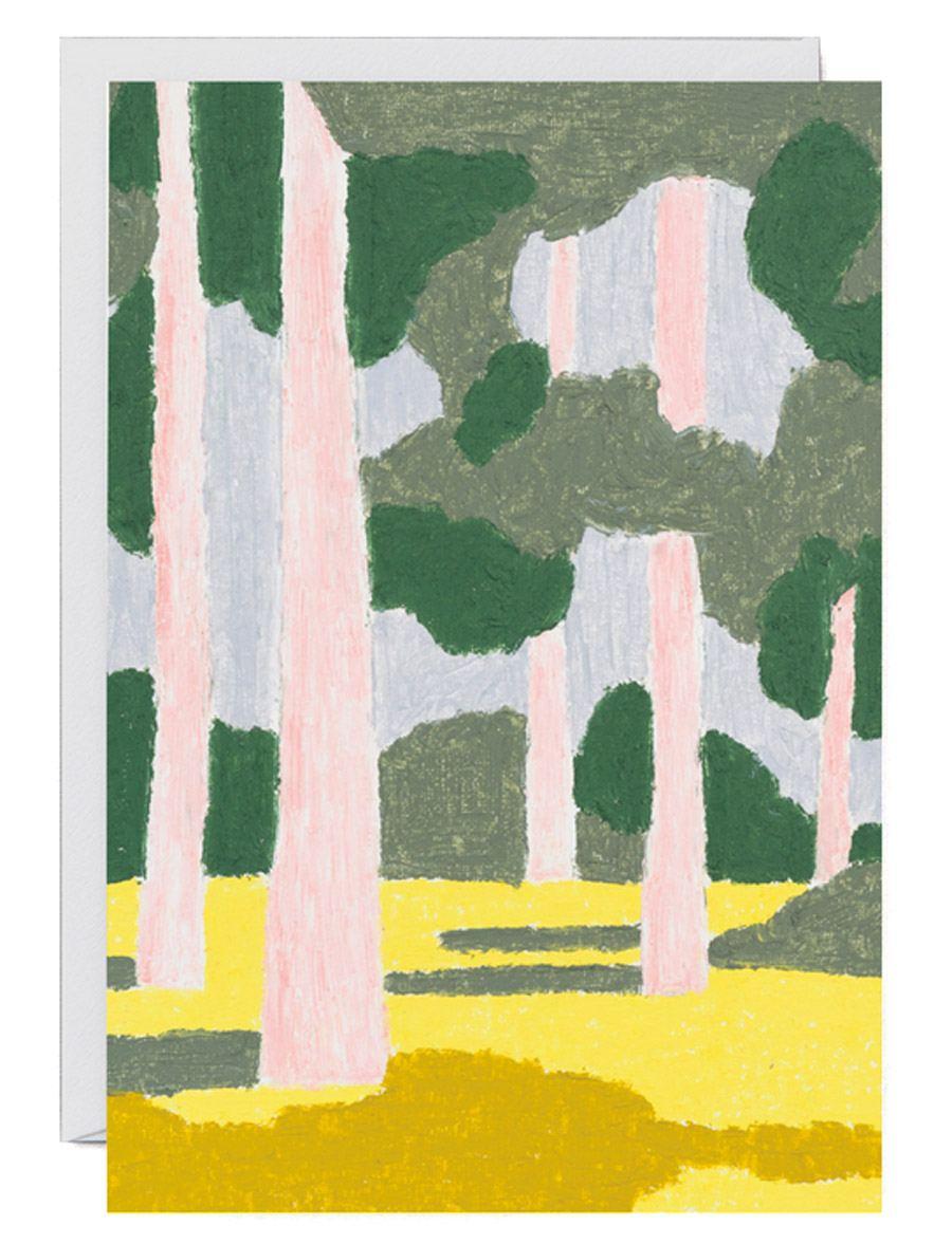 Pink Forest Klappkarte