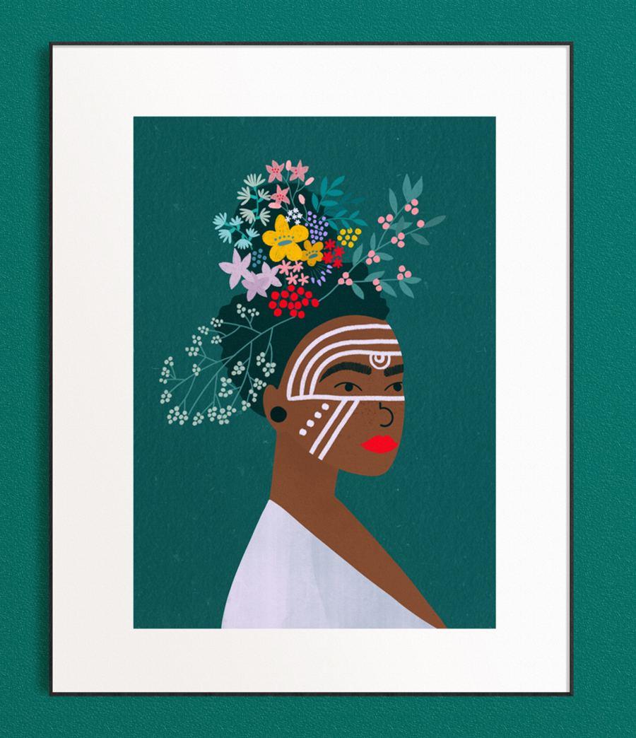 Tribal Girl Print (Din A3)