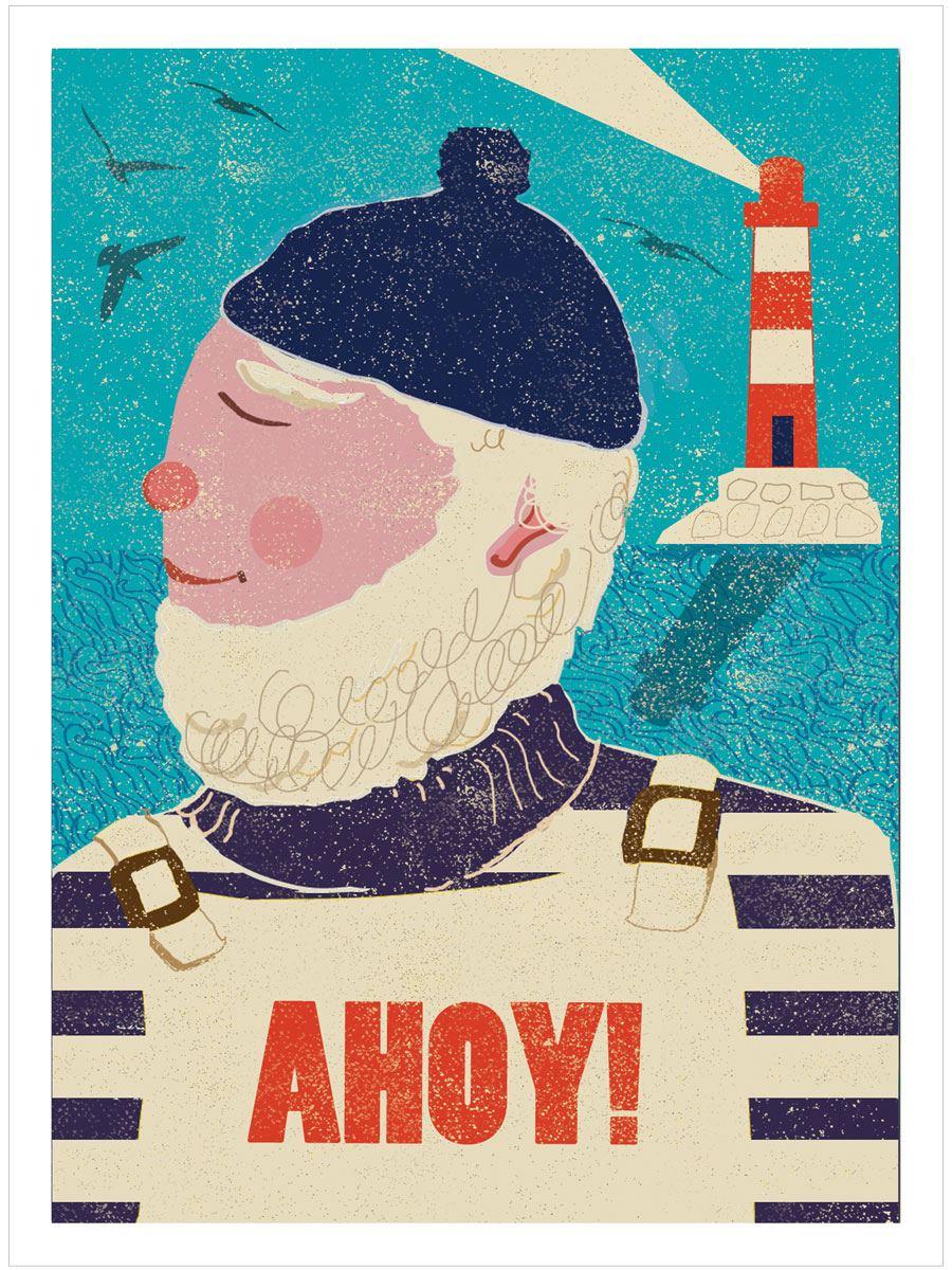 AHOY! Seaside Poster (A3)