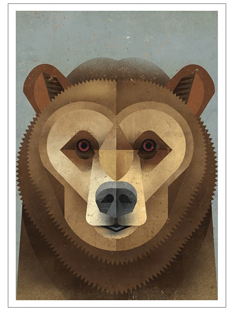 kodiak bear postkarte dieter braun human empire shop. Black Bedroom Furniture Sets. Home Design Ideas