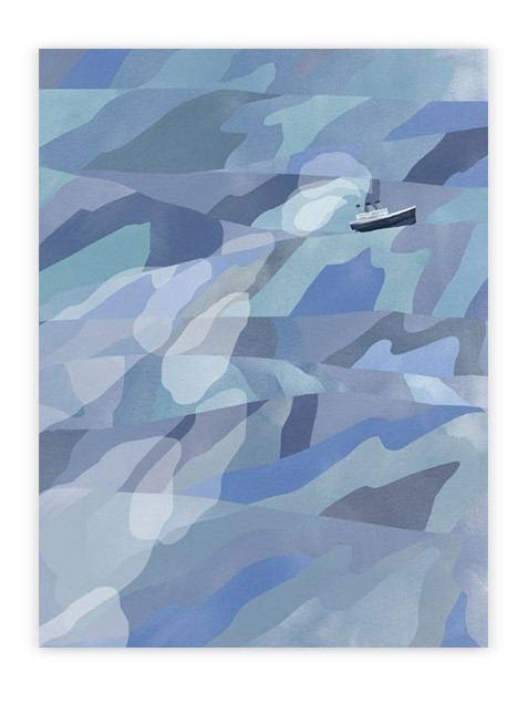 Ocean Postkarte (A6)