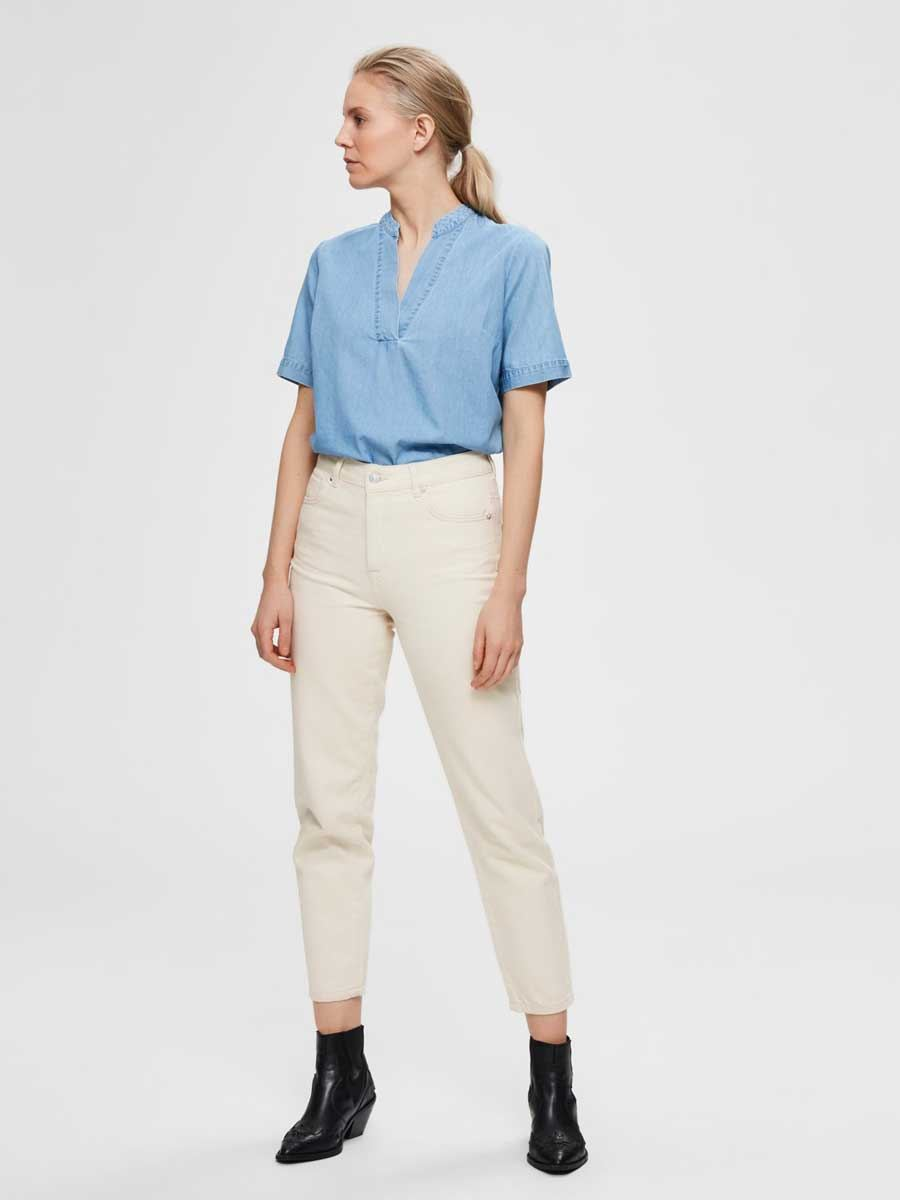 SLFJOY Bluse Light Blue