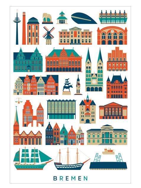 Bremen 1 Postkarte