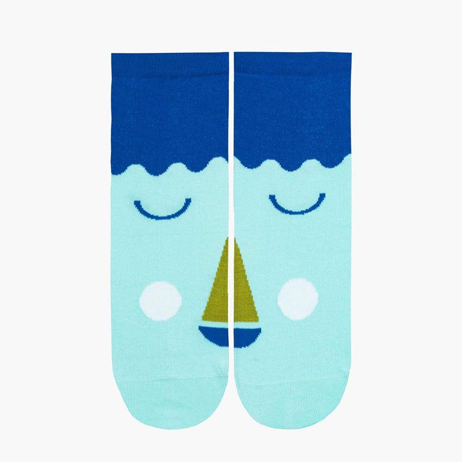 Friendly Socks Big Face Blue