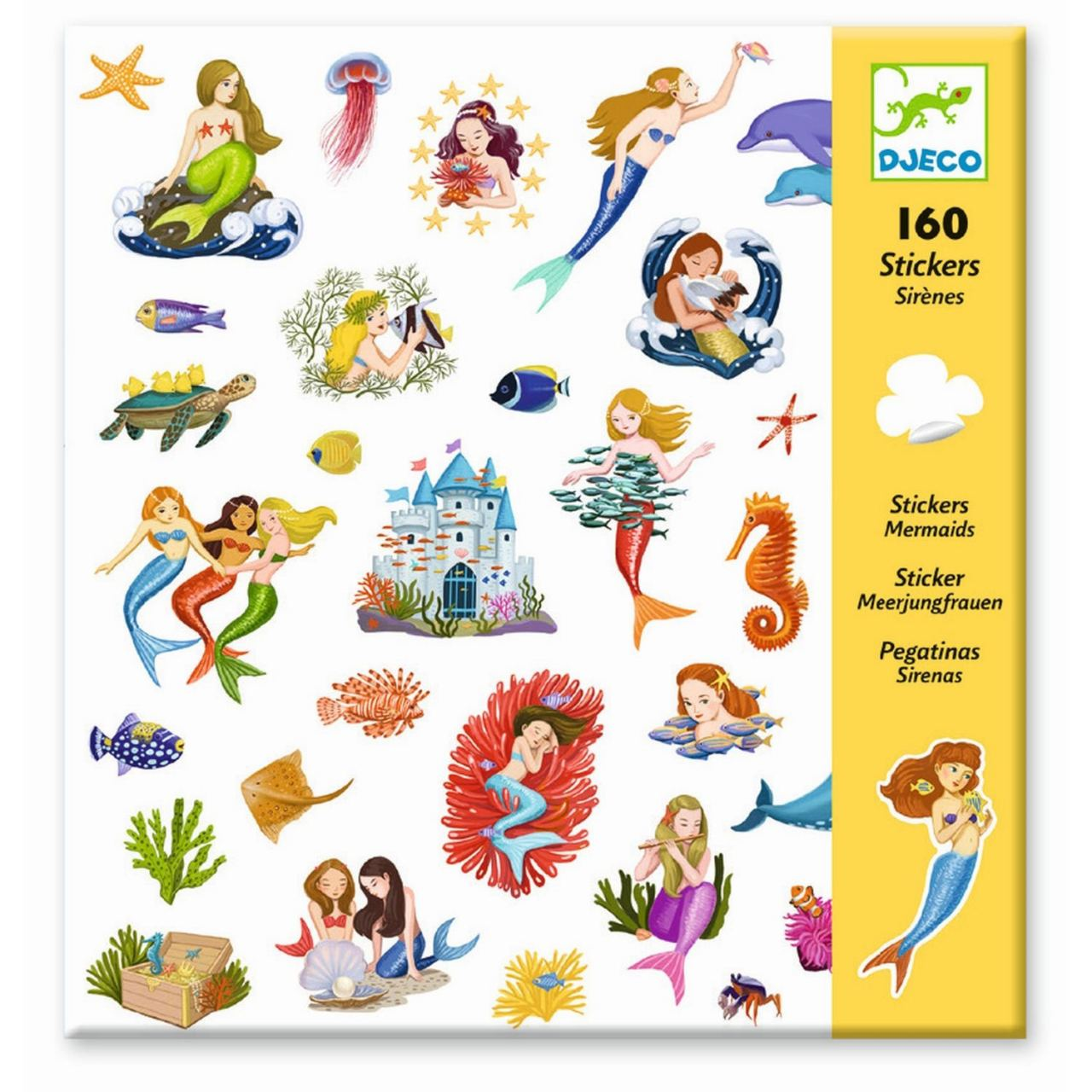 160 Sticker: Meerjungfrauen