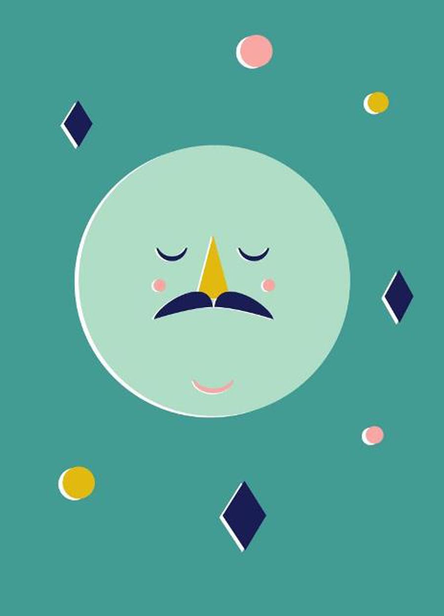 Confetti Moon Poster (50 x 70 cm)