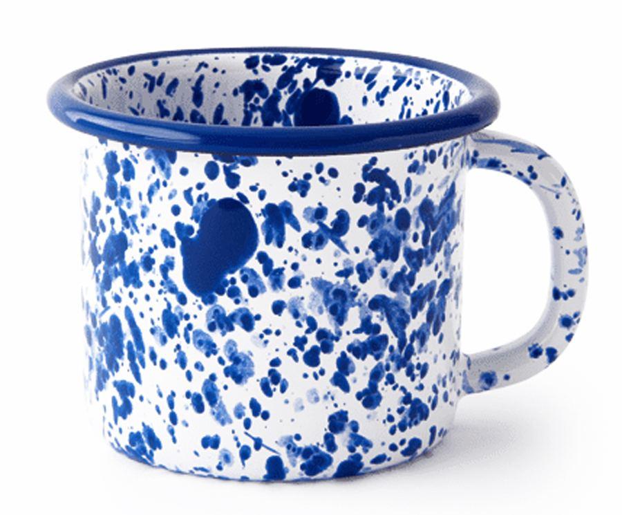 Mediterranean Mug Blue On White
