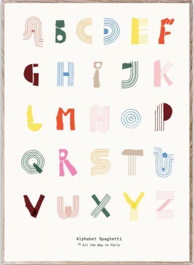 Alphabet Spaghetti Multicolour Poster (50x70cm)