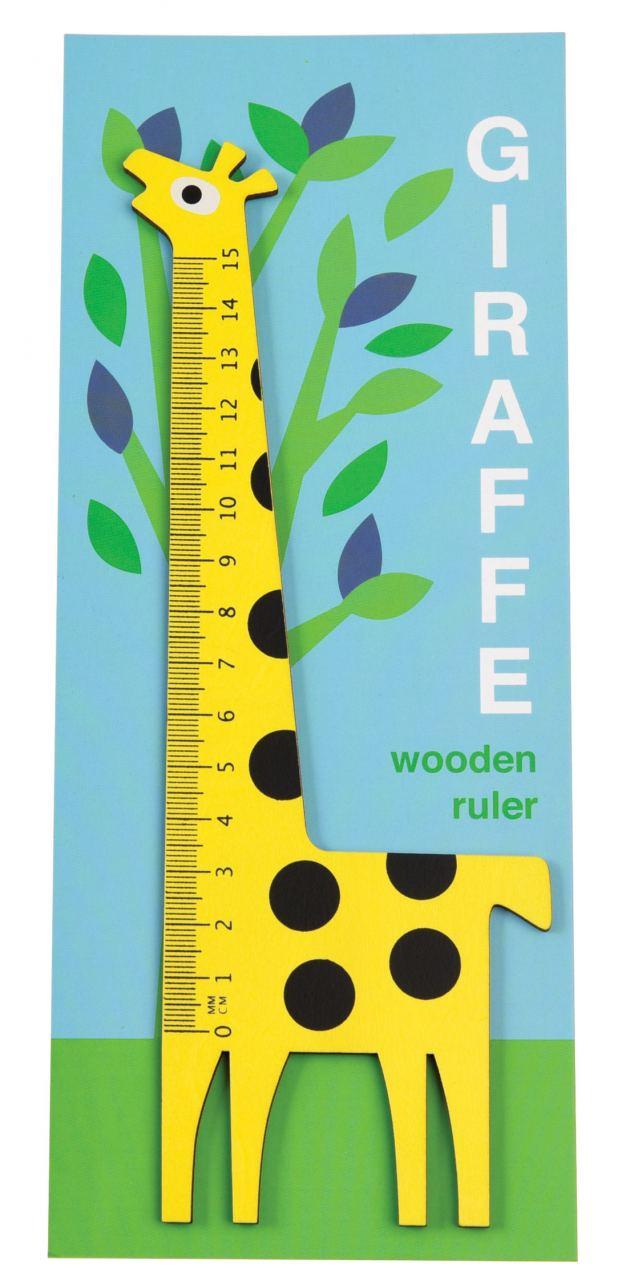 Holzlineal Giraffe