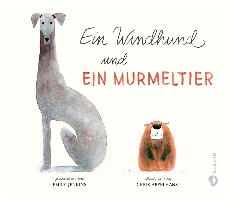 Ein Windhund und ein Murmeltier