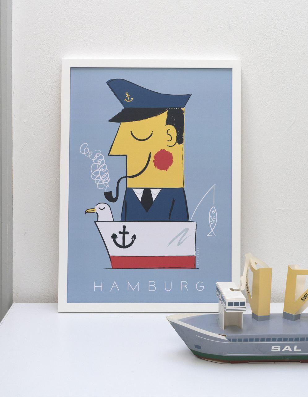 Hamburg Kapitän Ahoihoi Poster
