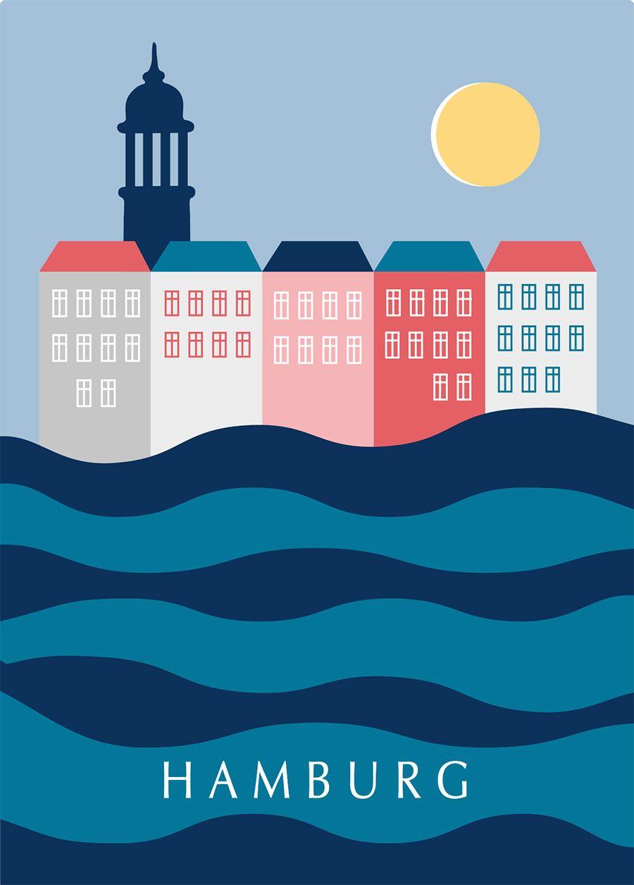 Hamburg Tag Postkarte