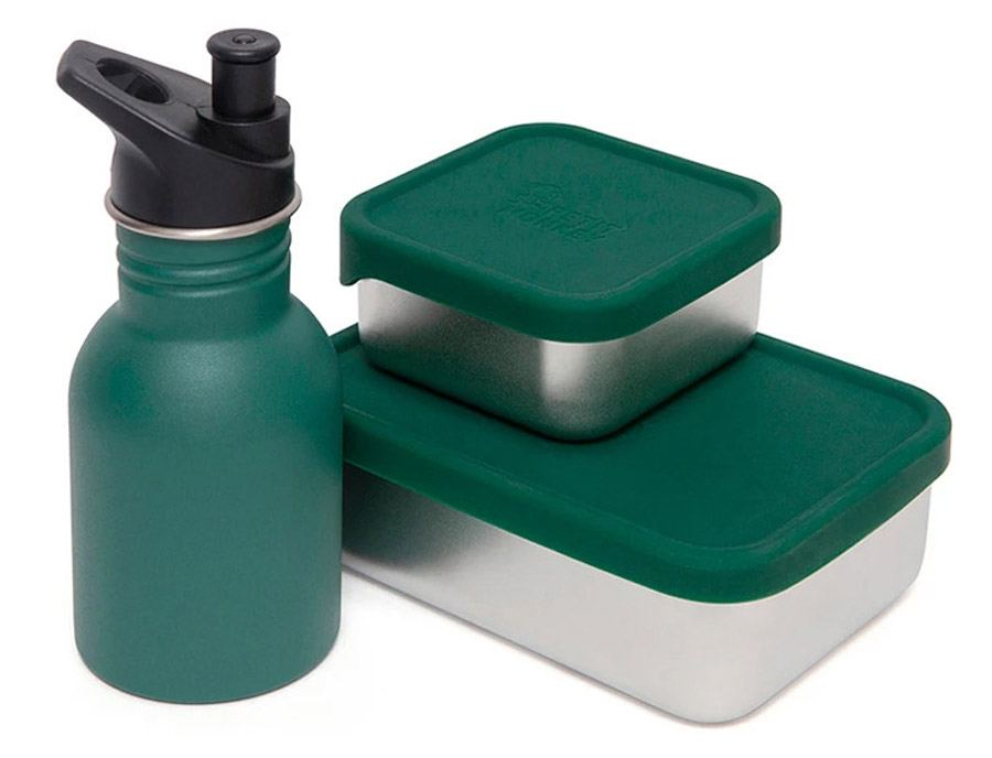 Edelstahl-Lunchbox Mae Pine Green
