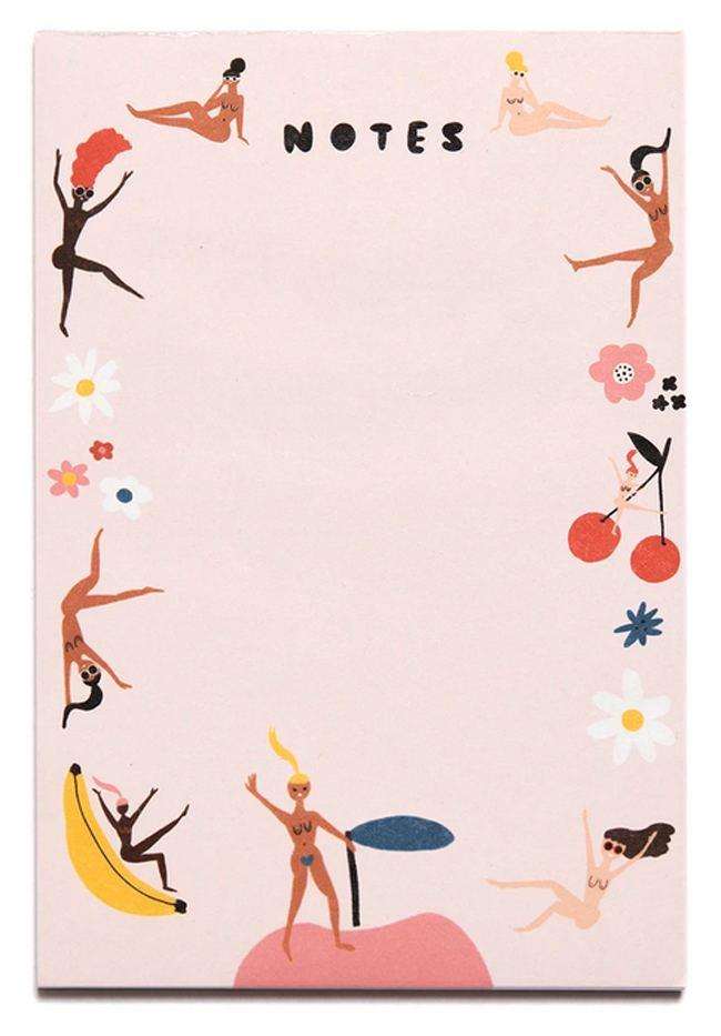 Carolyn Suzuki Fruity Nudes Notepad