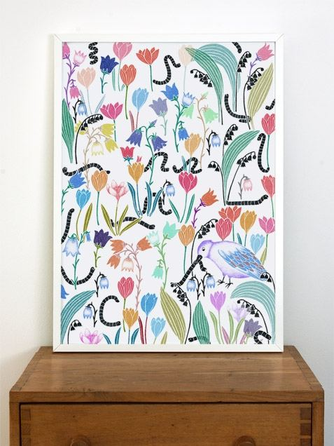Flowers / Worms (50x70cm)