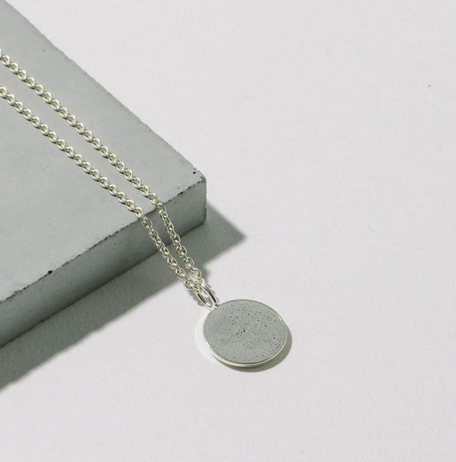 Kette 925 Silber Hellgrau 13mm