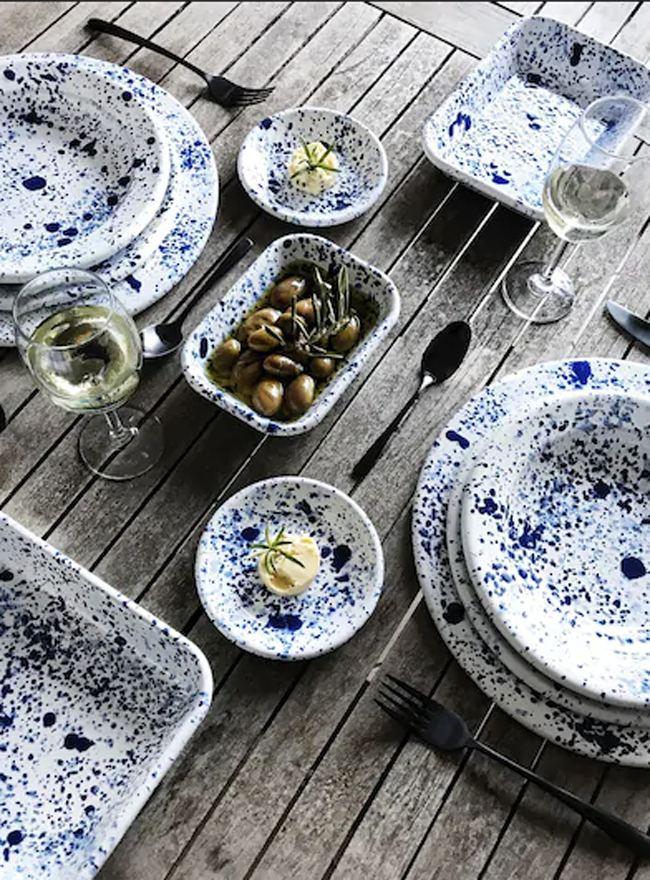 Mediterranean Bowl Blue On White