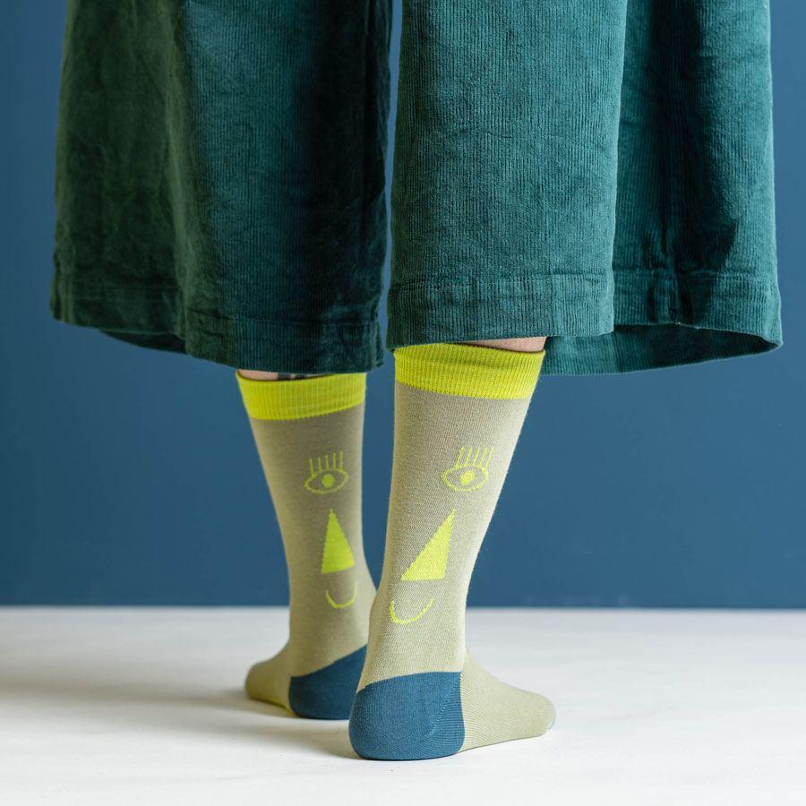 Friendly Socks Back Face Neon